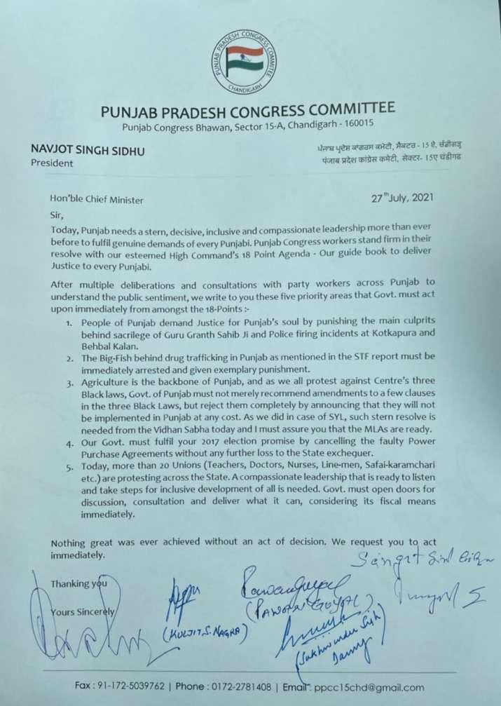 India Tv - Punjab Congress, Navjot Singh Sidhu, Amarinder Singh, sidhu amarinder meeting, punjab congress news