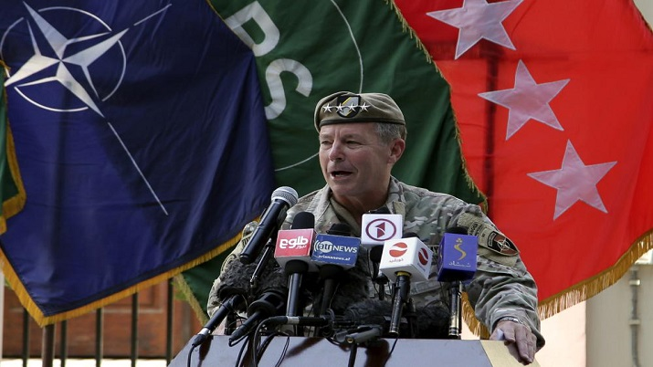 Top US commander in Afghanistan relinquishes post