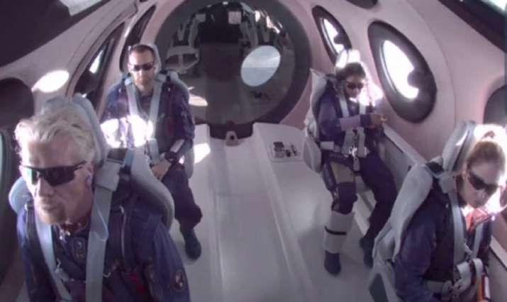 Billionaire Richard Branson reaches Space in his own ship;