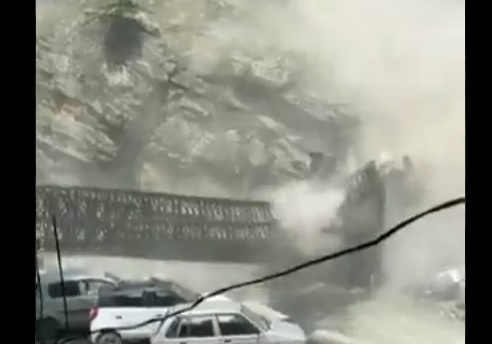 Scary visuals show landslide, bridge collapse in Himachal's