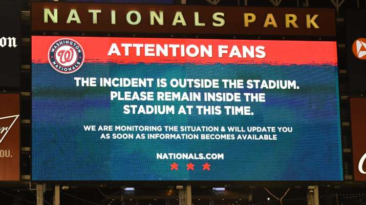 Major League Baseball match in US suspended after shooting outside stadium