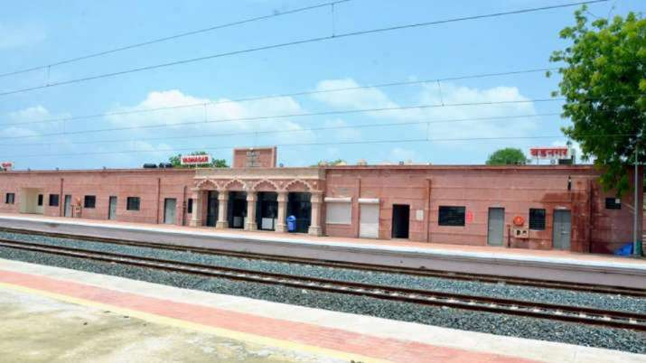 A glimpse of revamped Vadnagar Railway Station, inaugurated
