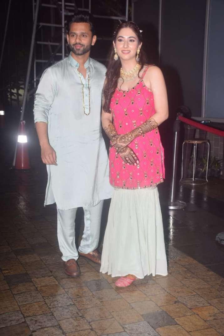 India Tv - Rahul Vaidya with his would-be-wife Disha Parmar