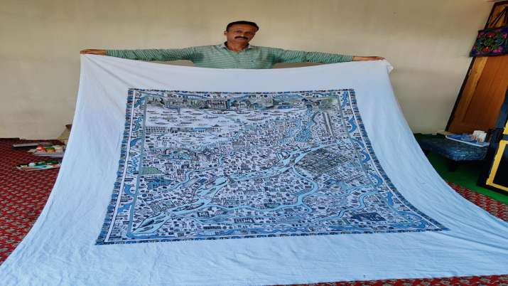 India Tv - This Kashmiri artist wishes to draw his skills on new Parliament walls