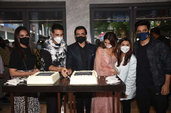 India Tv - Bell Bottom team at the trailer launch event in Delhi