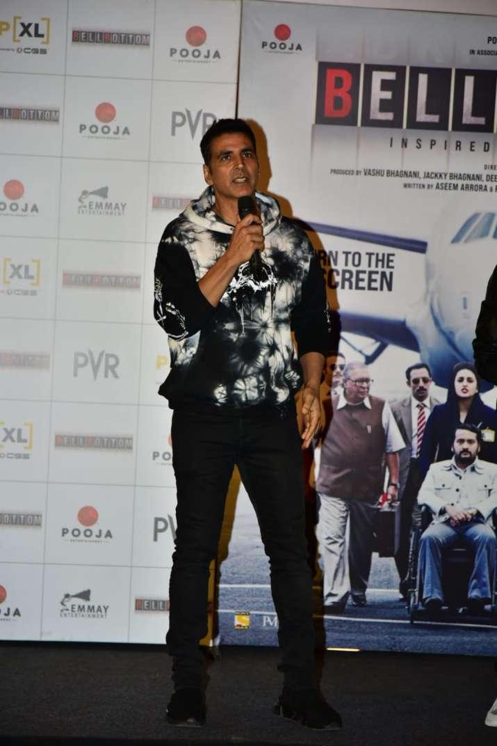 India Tv - Akshay Kumar at the trailer launch event in Delhi