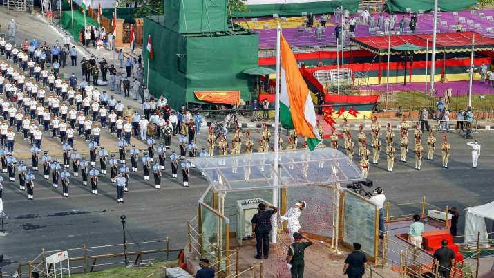India Tv - 75th Independence day, national flag, national flag hoisting, national flag unfurling, tri colour, A