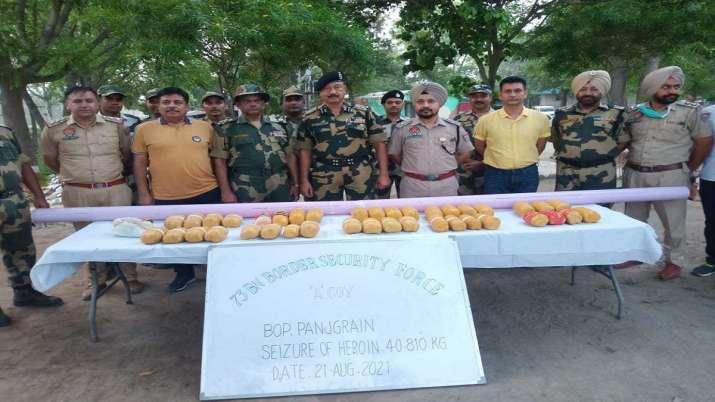 40 kg heroin, heroin seized, international border, Punjab, latest national news updates, crime news,