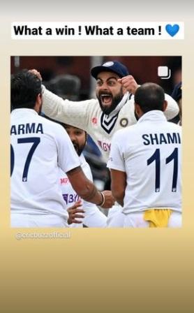 India Tv - Anushka Sharma cheer for Virat Kohli and Team India