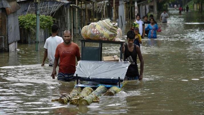 assam flood, assam floods, 2 children, north east india