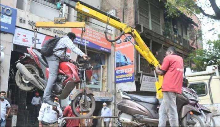 Pune: Video of motorcycle being towed along with rider goes