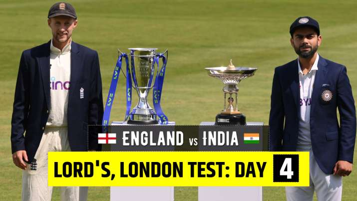LIVE Cricket Score England vs India 2nd Test Day 4: Follow Live Updates from Lord's