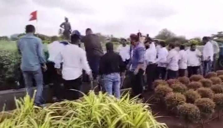 India Tv - Shiv Sena, Vandalism, Adani airport