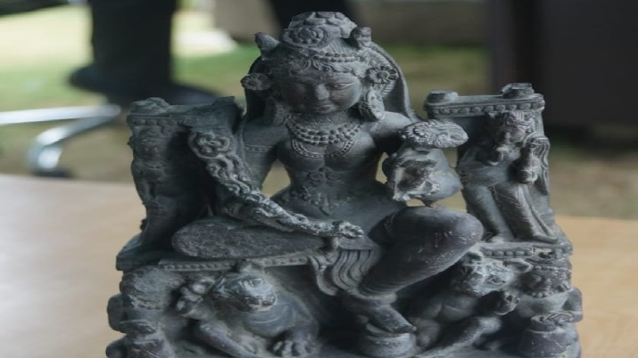 1200-year-old sculpture of Goddess Durga recovered in Bugdam