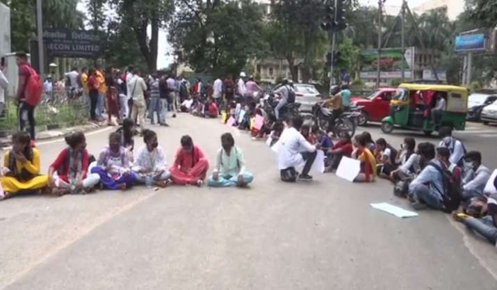 Students protest, demand review of Jharkhand Academic