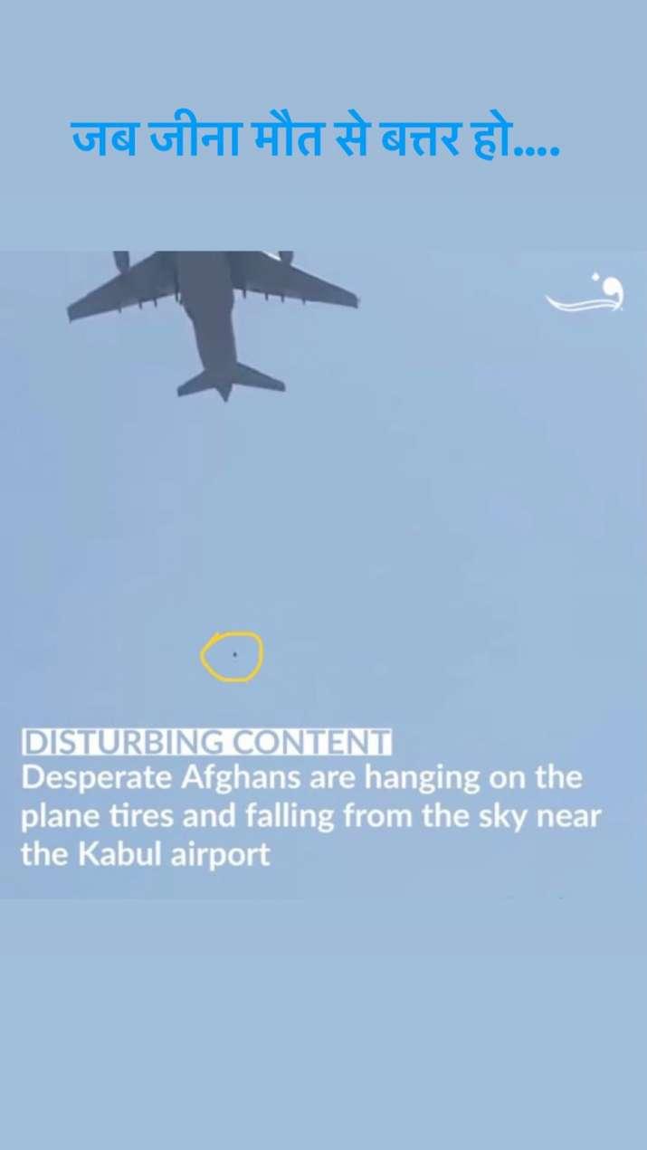 India TV - Kangana Ranaut, Anushka Sharma mengungkapkan keterkejutan mereka dalam video orang jatuh dari penerbangan di Kabul