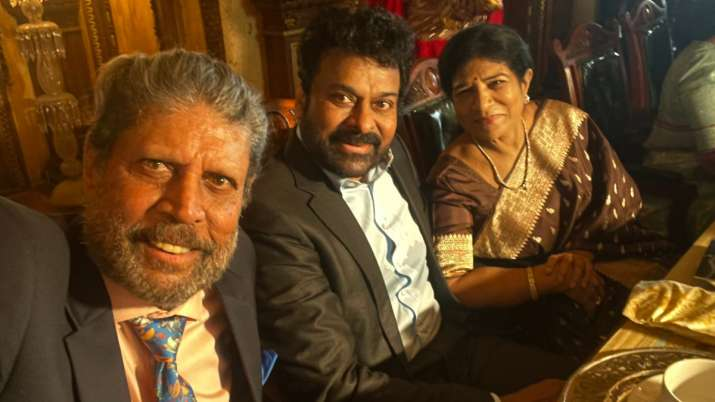 Chiranjeevi, wife rekindle memories with 'Old Friend' Kapil Dev in Hyderabad, fans call them 'mega b