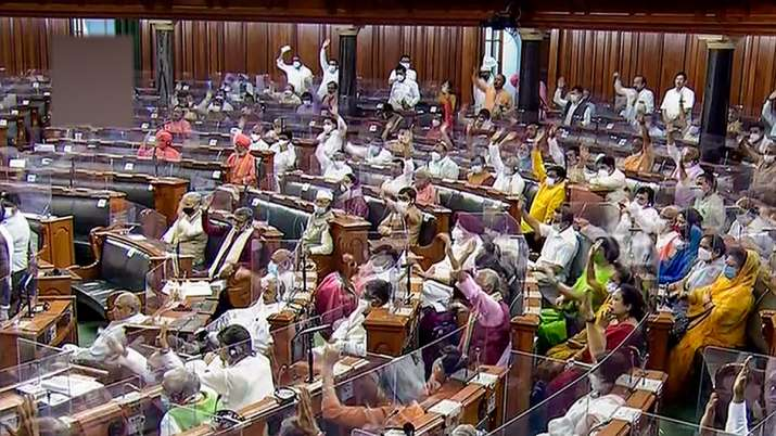 A view of the Lok Sabha during the Monsoon Session of