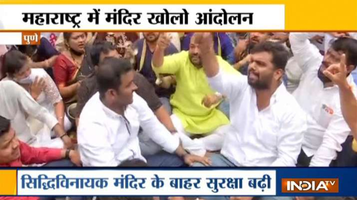 BJP stages protest seeking reopening of temples in