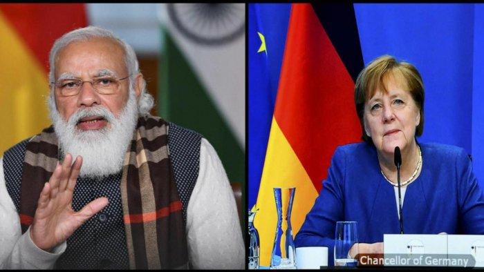 PM Modi, German Chancellor Merkel discuss Afghanistan