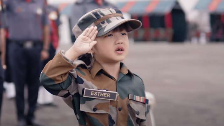 5-year-old Mizoram girl singing National Anthem in army uniform sure to melt your heart   WATCH