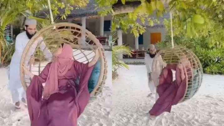 Video from Sana Khan and husband Anas Saiyad's Maldives getaway will leave you in splits