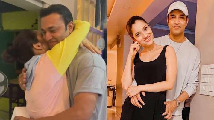 Ankita Lokhande showers kisses & surprises boyfriend Vicky Jain on his birthday; watch video
