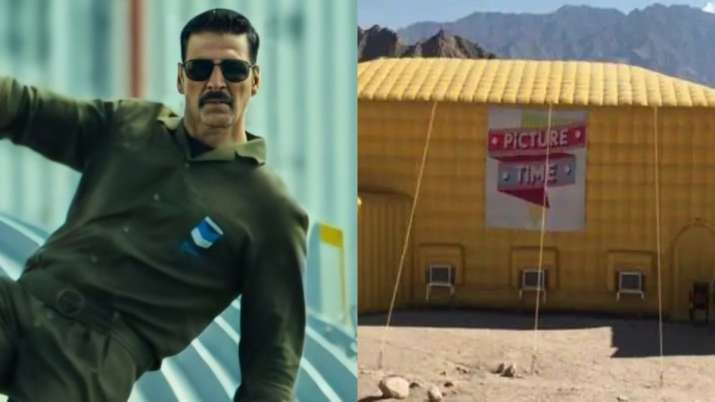 Akshay Kumar's heart swells with pride as BellBottom screens at World's highest theatre in Ladakh