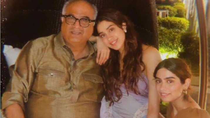 Boney Kapoor, Suhana Khan, Agastya Nanda