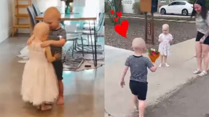 Video of preschool friends who battled cancer together reuniting for 1st time will melt your heart