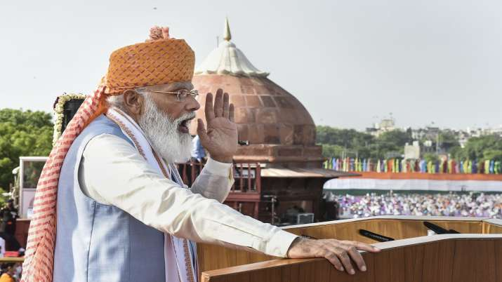 Prime Minister Narendra Modi addresses the nation from the