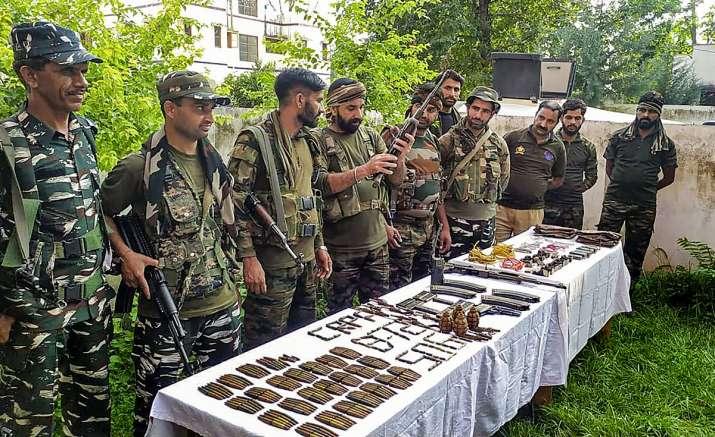 indo myanmar border arms seized