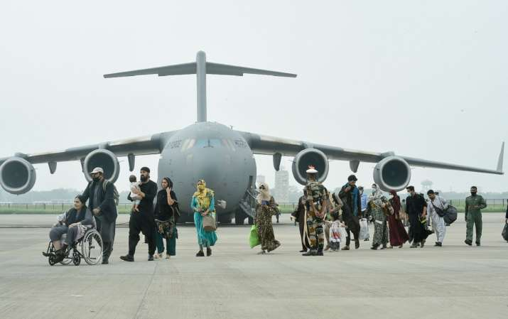 indians evacuated from kabul