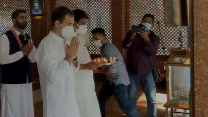 Kheer Bhawani temple rahul gandhi