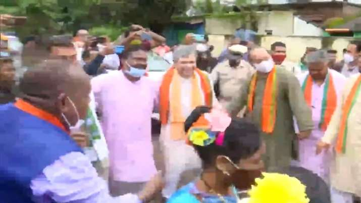 As part of his visit, Vaishnaw travelled to Rayagada in a