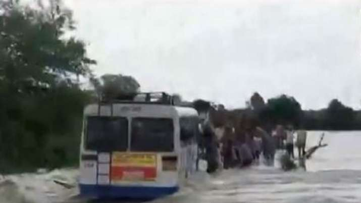 Rajasthan: Dramatic rescue operation of 40 passengers stuck