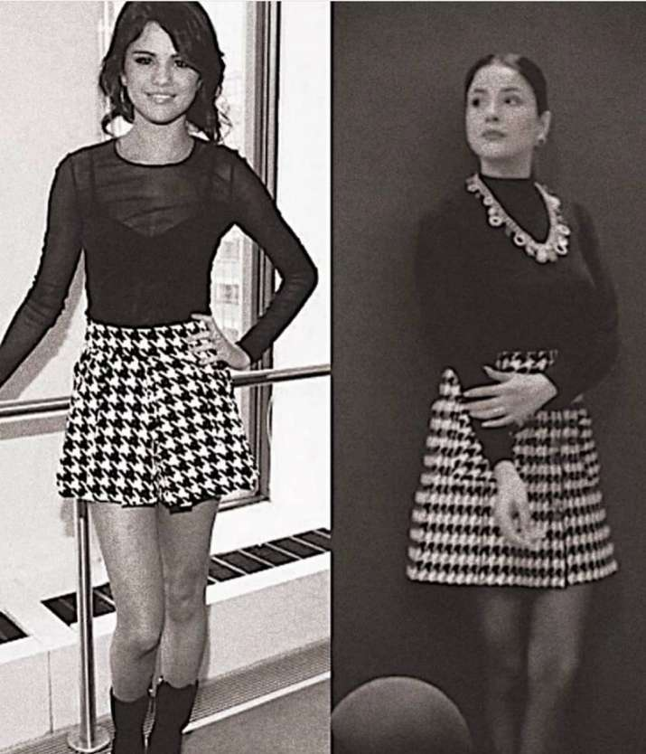 India Tv - Shehnaaz Gill takes fashion inspiration from Selena Gomez