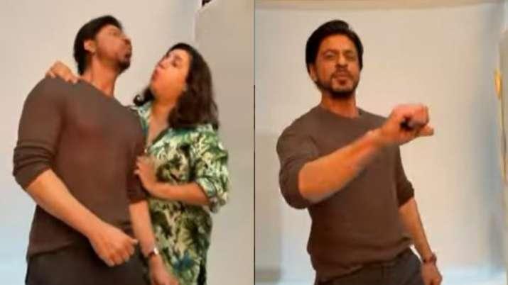 Shah Rukh Khan, Farah Khan recreate 'Main Hoon Na' moment