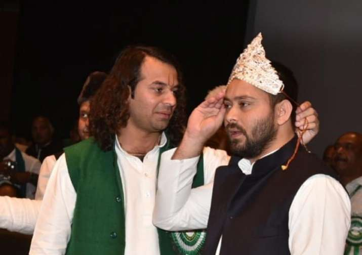 Tej Pratap in Mathura in 'search of peace' amid discord in