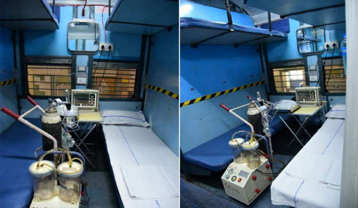 India Tv - A prototype of an isolation ward, ready with medical facilities, arranged in a train.