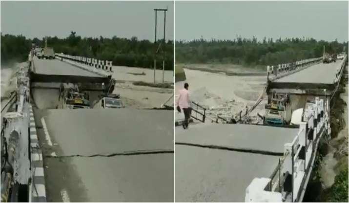 Uttarakhand rains: Rani Pokhari Bridge collapses on