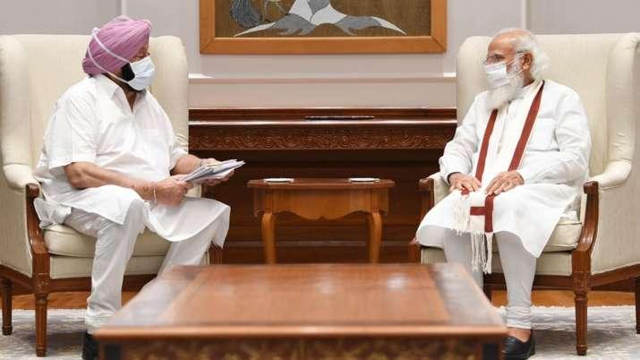 Punjab CM Amarinder Singh modi meeting, Amarinder Singh modi meeting, amarinder meeting modi discuss