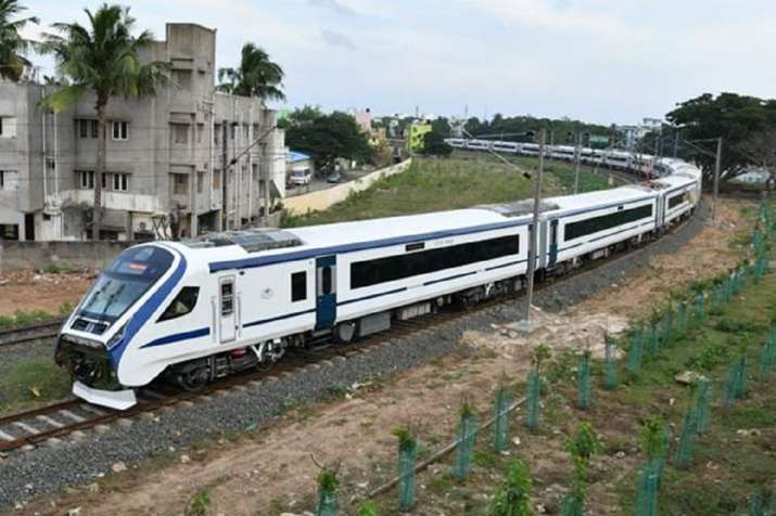 India Tv - Vande Bharat Express, also known as Train 18, is an Indian higher-speed intercity electric multiple unit.