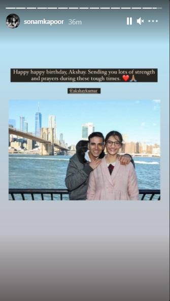 India Tv - Sonam Kapoor wishes Akshay Kumar on 54th birthday