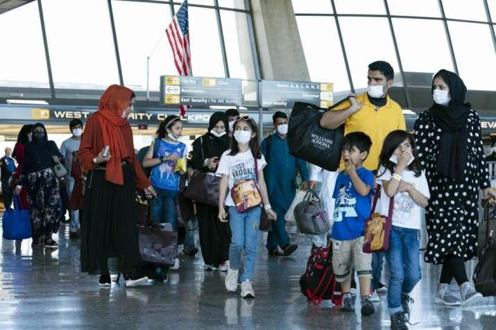 evacuated afghans us