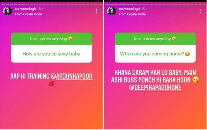 India Tv - Ranveer Singh's AMA session on Instagram
