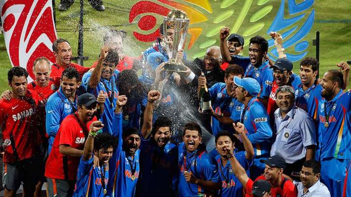 Team India after winning 2011 World Cup