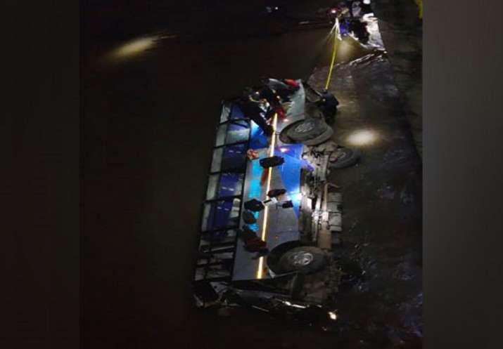 Meghalaya accident: 4 dead as bus falls into Ringdi river