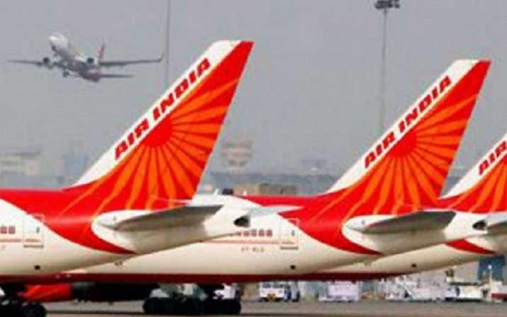 air india flight bird hit