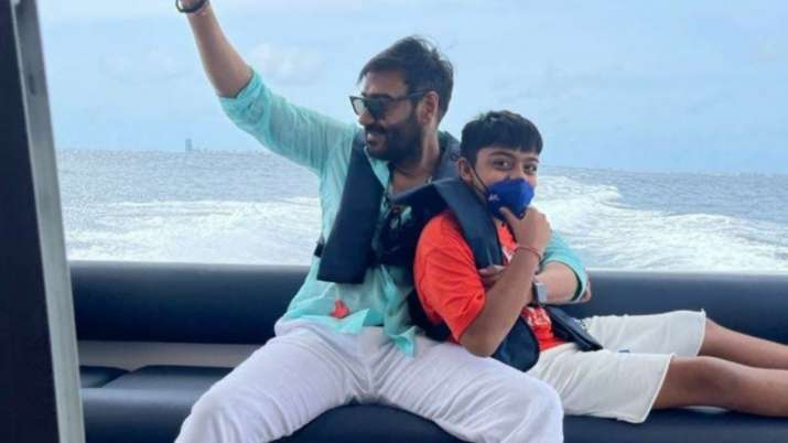 See Ajay Devgn's 'defining moment' with son Yug from their Maldives trip